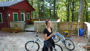 Mountainbiketour mit Lina zur Ossingerhütte