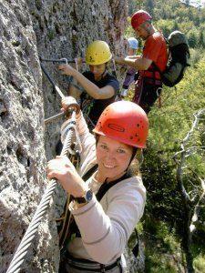 Klettersteig im Hirschbachtal