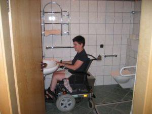 Rollstuhlgerechts Bad im Landgasthof Zum Elsabauern in Pruppach