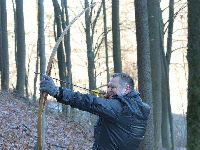 Bogenschießen im Bogenparcours